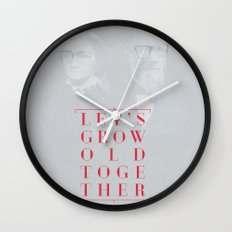 Let's grow old together Wall Clock