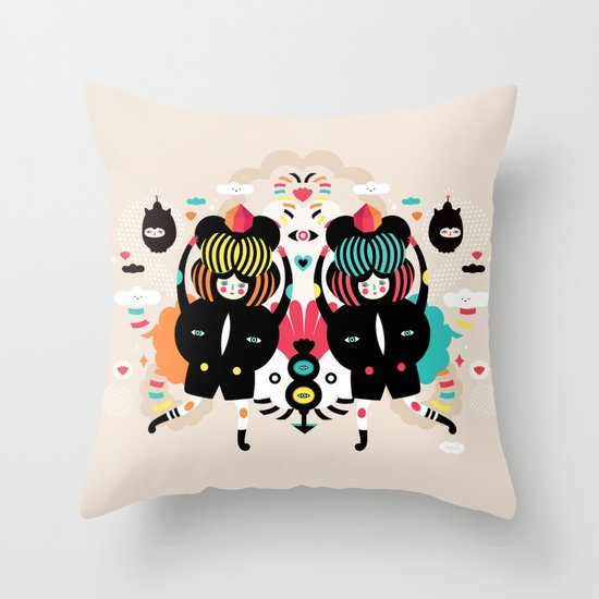 It's a happy dance Throw Pillow