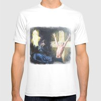 Set Free Mens Fitted Tee White SMALL