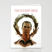 Time Is A Flat Circle Stationery Cards