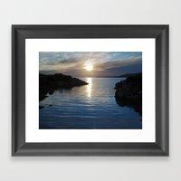 Evening At Trawenagh Bay… Framed Art Print