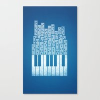 City Of Amp Canvas Print