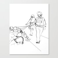 Pepper Spray(Illustration for Police Brutality Coloring Book) Canvas Print