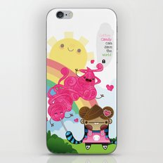 Cotton Candy can save the world!!! iPhone & iPod Skin