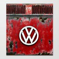 VW Retro Red Canvas Print
