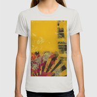 YELLOW5 Womens Fitted Tee Silver SMALL