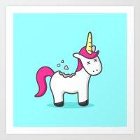 Unicorn Cookie Art Print