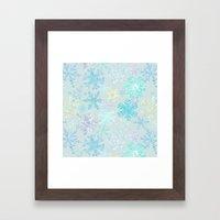 icy snowflakes Framed Art Print