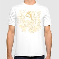 Shark Attack Mens Fitted Tee White SMALL