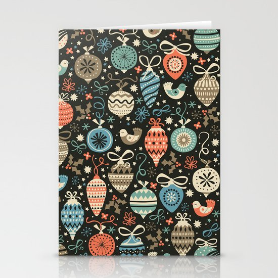 Festive Folk Charms Stationery Card