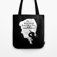 Boy's best friend – Norman Bates Psycho Silhouette Quote Tote Bag