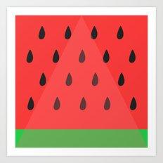 Watermelon Slice Art Print