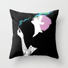 Chromatic Smoke Throw Pillow