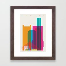Shapes of Boston. Accurate to scale Framed Art Print