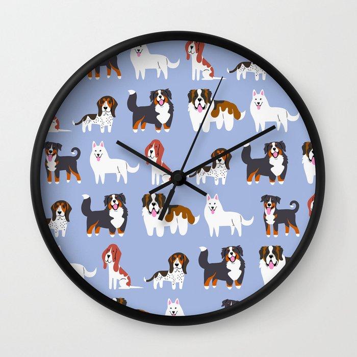 Swiss Dogs Wall Clock By Doggiedrawings Society6