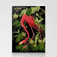 Flamingo Black Stationery Cards