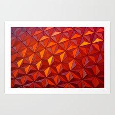 Geometric Epcot Art Print