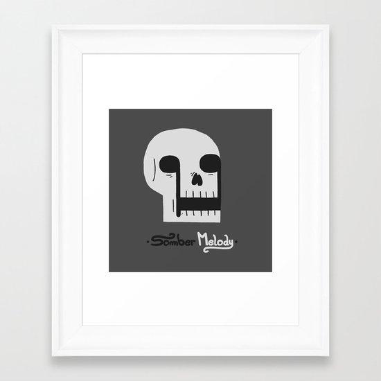 Somber Melody Framed Art Print