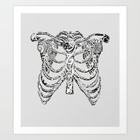 Ribcage Tattoo Art Print