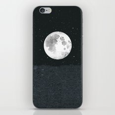 Grey Moonscape iPhone & iPod Skin