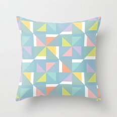 pinwheels - blue Throw Pillow