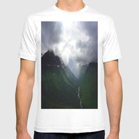 Mystic Mountains Mens Fitted Tee White SMALL