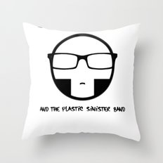 Plastic Sinister Band Logo Throw Pillow