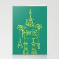 Yellow Robot Stationery Cards