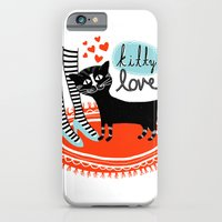 iPhone & iPod Case featuring Kitty Love by R. Phillips
