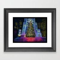Christmas In Manhattan D… Framed Art Print