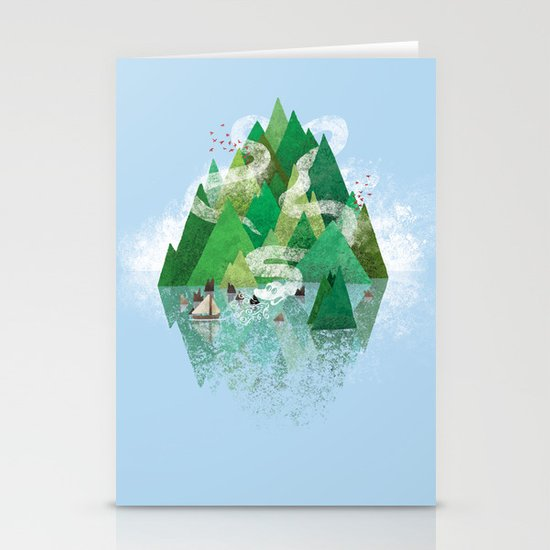 Mysterious Island Stationery Card