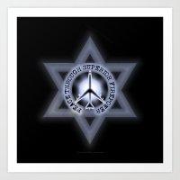 Israel Peace Symbol - 03… Art Print