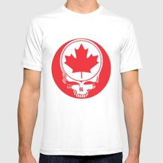 Canadian Steal Your Face (variation#4) SMALL White Mens Fitted Tee