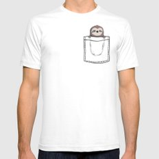 My Sleepy Pet SMALL White Mens Fitted Tee