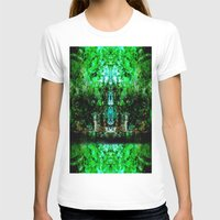 Kaleidoscope Womens Fitted Tee White SMALL