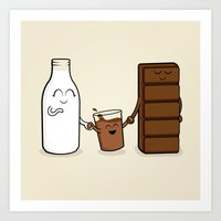 Milk + Chocolate Art Print
