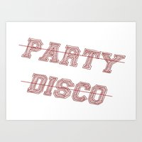 Talking Heads - No Party… Art Print