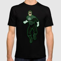 Green Lantern Mens Fitted Tee Black SMALL