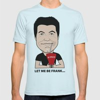 Simon Cowell - the first American Idol Judge Mens Fitted Tee Light Blue SMALL