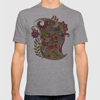 Random Flowers Mens Fitted Tee Athletic Grey SMALL