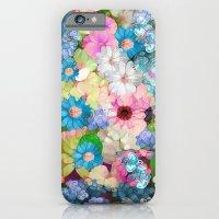 Pastels & Blue Bouquet iPhone 6 Slim Case