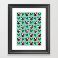 Siamese Cat Cute Christm… Framed Art Print