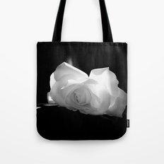 Black & White Rose Tote Bag