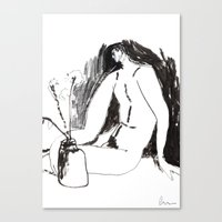 Nude Male With Vase And … Canvas Print