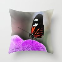 Butterfly Garden 3 Throw Pillow