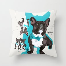 Chauncey Loves You - French Bulldog Throw Pillow