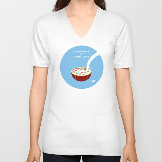 Breakfast of Champions V-neck T-shirt
