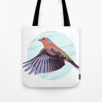 Chaffinch In Flight Tote Bag