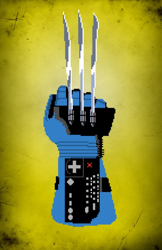 Power Glove Love: Wolverine Art Print