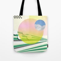 Peach Sky Tote Bag